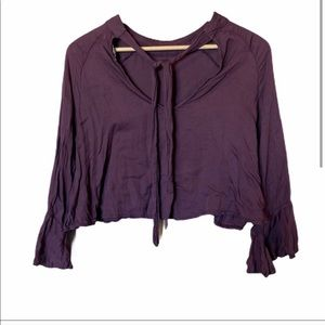 Super Soft purple long sleeve crop